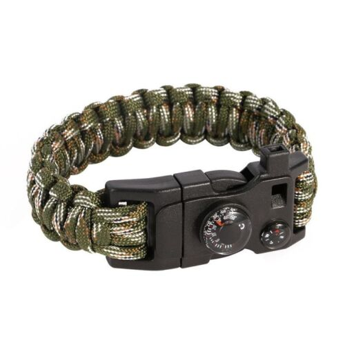 Hot outdoor camping Paracord Bracelet 15in1 Emergency Survival Kit Multitools C1