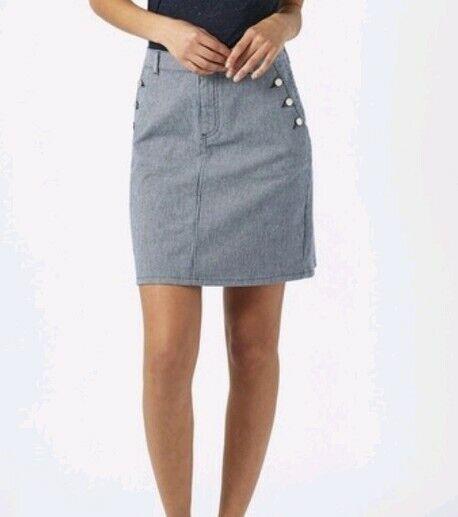 Monsoon Iona Navy White Striped Short Skirt Size 20 Bnwt
