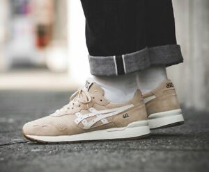New Mens Asics Tiger Gel-Lyte Suede Trainers (Marzipan / Cream ...