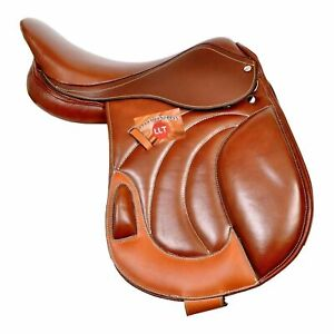 """Size 14/"""" to 18/"""" New Leather Jumping Close Contact English Horse Saddle Tack"""