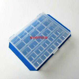 Plastique-transparent-Boite-de-Rangement-pour-25-PIECES-L-Taille-Machine-a-coudre-BOBINES-BOBINES