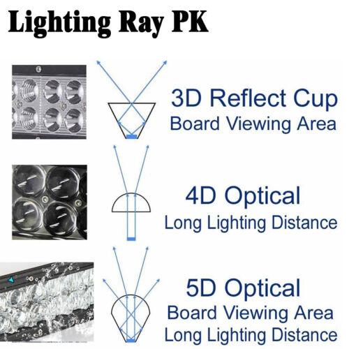 "14/"" inch 72W 5D RGB Led Work Light Bar Music Wireless Bluetooth /& Wiring Kit"