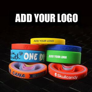 Custom Blank Silicone Bracelets Rubber Wristbands Imprint Logo Personalized Ebay