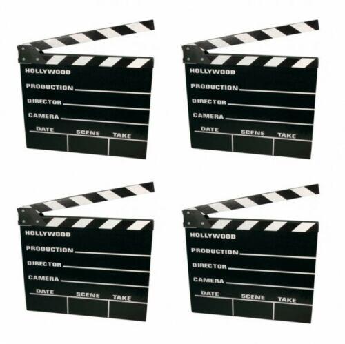 4x Filmklappe Regieklappe Regie Film Hollywood Klappe Clapperboard 20x18cm