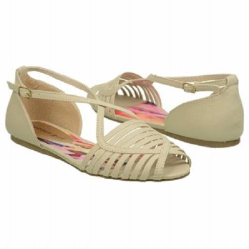 Madden Girl Smerk sandal natural fabric sz 9.5 Med NEW