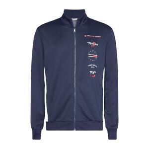 Tommy-Hilfiger-Graphics-Track-JKT-Felpa-Uomo-S20S200317-CBK-Sport-Navy