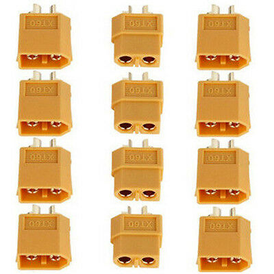 20Pcs 10Pairs XT60 Male & Female Bullet Connectors Plugs for RC Lipo Battery New