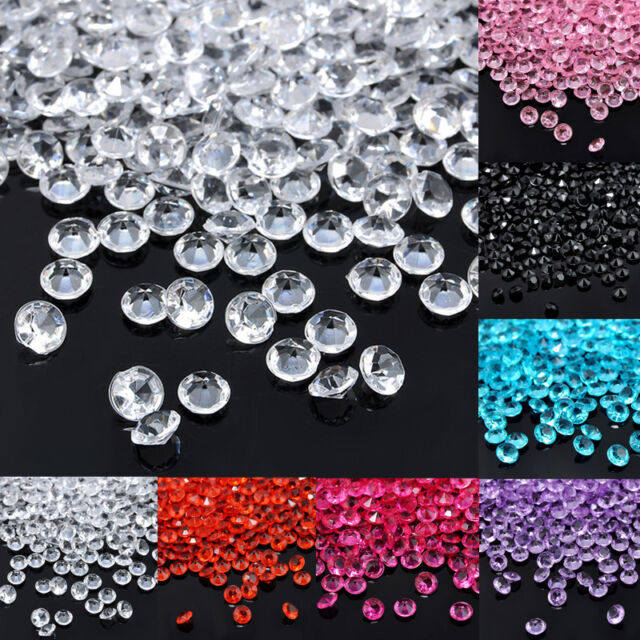1000Pcs Diamond Table Confetti Wedding Party Acrylic Beads Crystal Scatter 3MM
