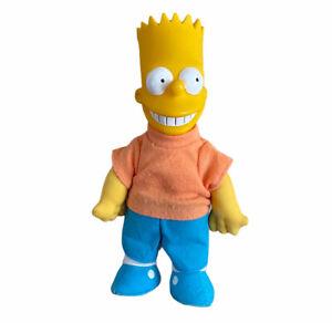 "Vintage 1990 Bart Simpson Plush Doll 9"" Vinyl Head  Toy Matt Groewing"