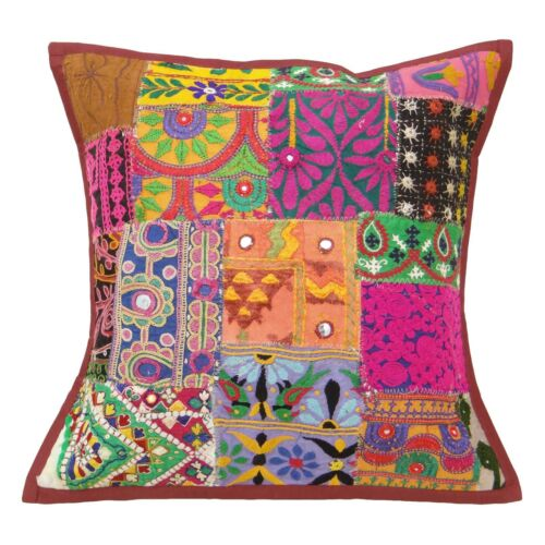 Sofa Cushion Covers Multicolor Indian Kutch Throw Pillow Ethnic Pillow 17 X 17