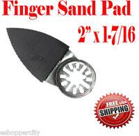 Oscillating Multi Tool Finger Sanding Pad Bosch Chicago Makita Ridgid Ryobi Sand