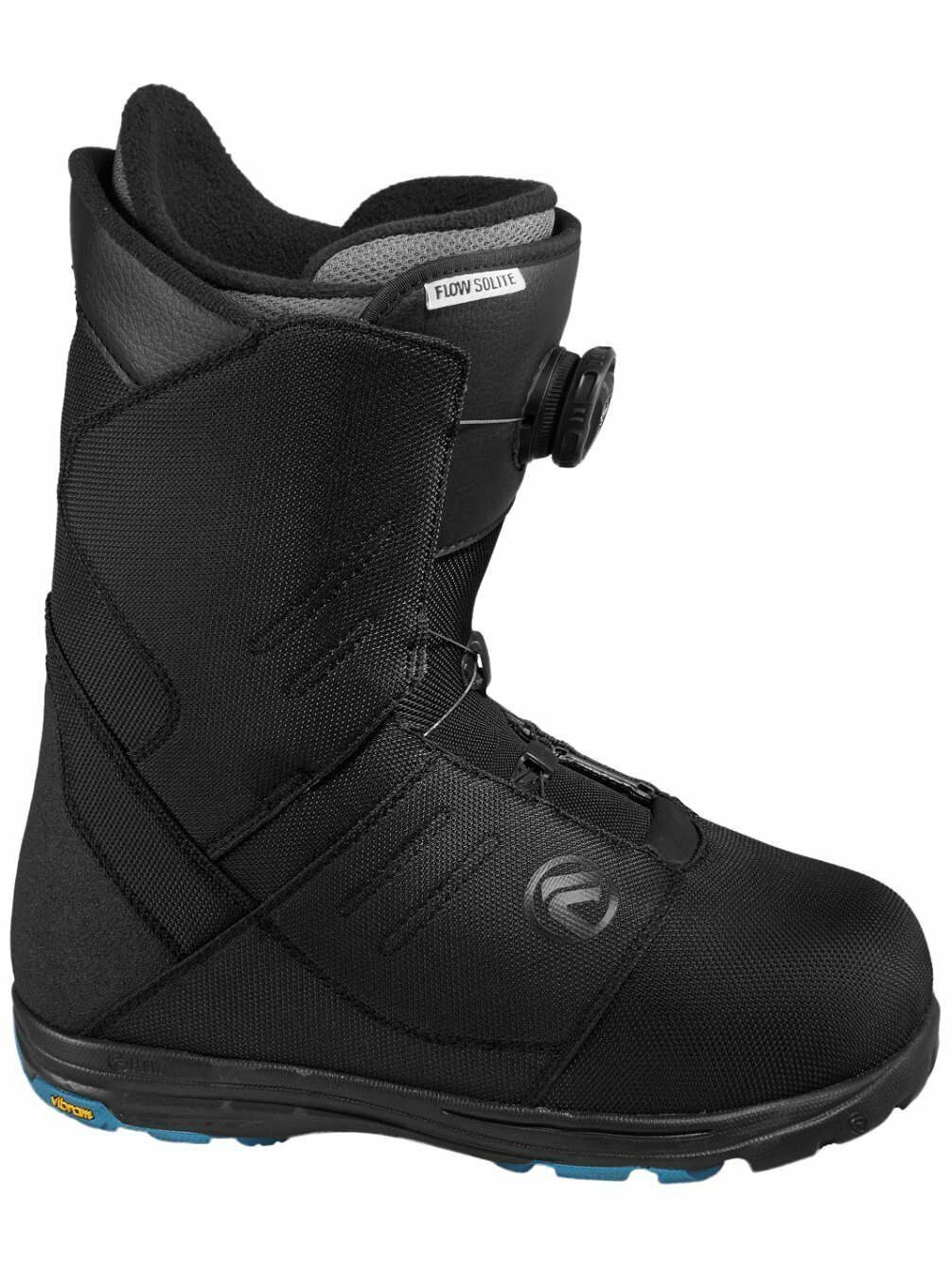 Hombres Snowboard botas Flow Solite Coile Snowboardboats Negro 45,5 (US   12)