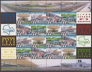 244S-MALAYSIA-1999-GRAND-PRIX-SEPANG-F1-CAR-RACING-SHEETLET-FRESH-MNH