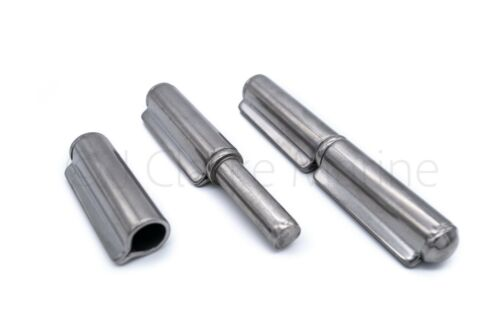 140mm Stainless steel fixed pin weld on hinge 2 part ramp door gate A2 304