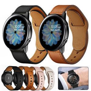 Ersatz-Armband-Echtem-Leder-Band-fuer-Samsung-Galaxy-Watch-Active-2-40-44mm-42-46