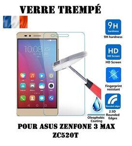 Lot-Film-Protection-Protege-Ecran-Vitre-Verre-Trempe-ASUS-ZENFONE-3-MAX-ZC520TL