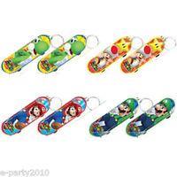 Super Mario Mini Skateboard Keychains (8) Birthday Party Supplies Favors Toys