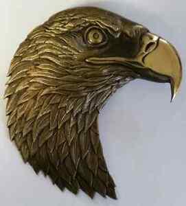 """CIA 3D Bald Eagle Cast Antique Bronze Finish 5.5""""H x 5.5"""" W Back Post & Hex Nut"""
