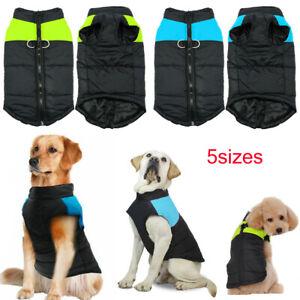 Pets-Dog-Vest-Jacket-Warm-Waterproof-Clothes-Winter-Padded-Puppy-Zipper-Coat-USA