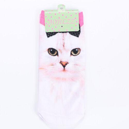 316E 5466 Short Stockings Unisex 3D 6 Style Funny Fashion Cartoon Socks