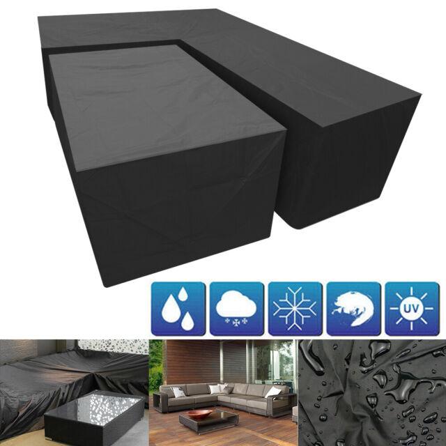 185cm Waterproof 2 4 Seat Rattan Cube, Best Patio Furniture Covers Uk