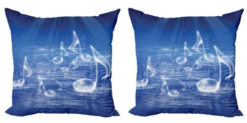 Ozean 2 Teiliges Kissenbezugs Set Musik nautische Melodie