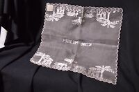 Vintage Silk Embroidered Handkerchief Phillipines Original Ruston's Tag