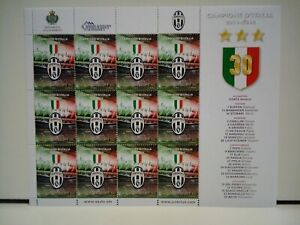 Francobolli-San-Marino-Foglietto-Juventus-Campione-D-039-Italia-2011-2012-Nuovo-MNH