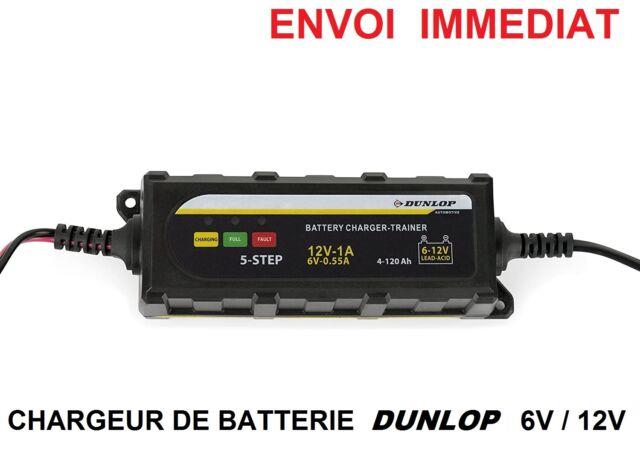 CHARGEUR DE BATTERIE AUTO MOTO BATEAU CAMPING CAR CHARGE ET ENTRETIEN  6V & 12V