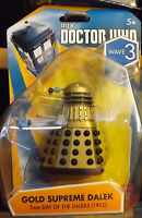 "DR WHO 3.75"" FIGURES WAVE 3  FIGURES   GOLD SUPREME DALEK"