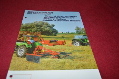 Deutz Fahr Hay Equipment Buyers Guide Dealers Brochure DCPA2