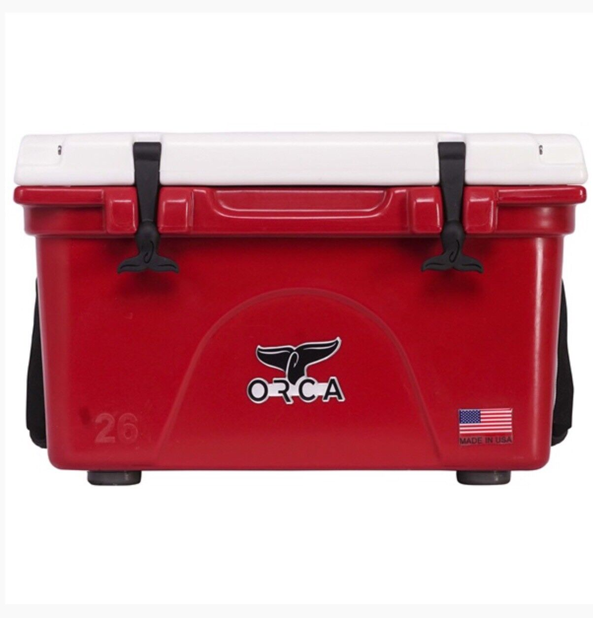 ORCCR/WH026  26QT CRIMSON AND Weiß COOLER WITH LIFETIME WARRANTY