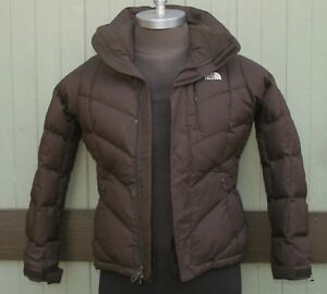 398c5ee23 Details about The North Face 600 Fill Goose Down Brown Puffer Jacket Size  Women's S/P