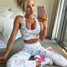 e1f7b2262bb5f 2Pcs Women s Sport Gym Yoga Vest Bra Sports Legging Pants Ladies Outfit  Wear Set