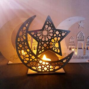 Ramadan-Wooden-Eid-Mubarak-Decoration-For-Home-DIY-Moon-Islam-Mosque-Muslim-FRrr