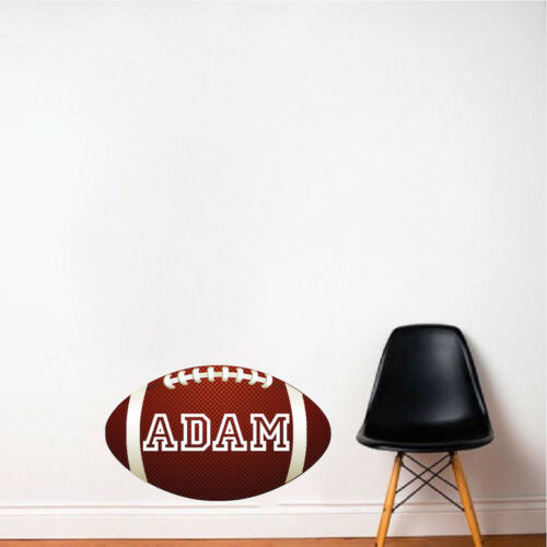 Custom Name Football Wall Decal Kid/'s Room Sports Decal Football Mural Art s86