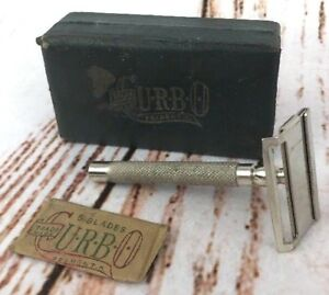 Vtg Mens Curbo Travel Safety Razor Blades Case 1006607 Fremont Ohio USA Lot