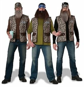 Image is loading NWT-ADULT-DUCK-DYNASTY-COSTUME-BEARD-WILLIE-JASE-  sc 1 st  eBay & NWT ADULT DUCK DYNASTY COSTUME - BEARD - WILLIE JASE UNCLE SI - TV ...