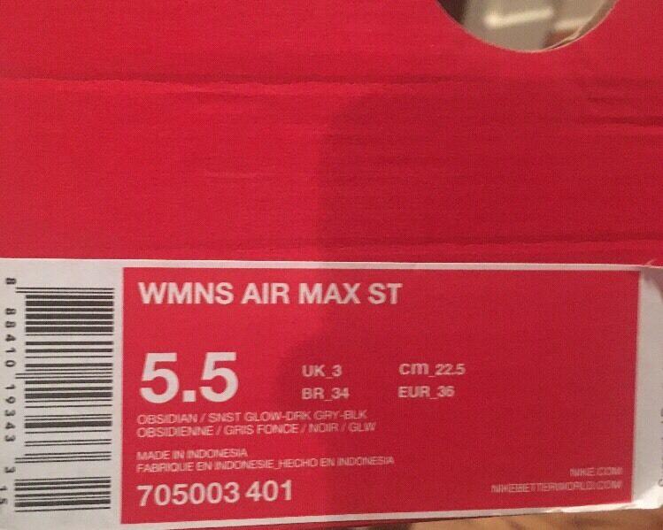 NIB Nike Wmns Air Max ST Womens Womens Womens Running shoes (705003-401) Sz  5.5 RP   100 650ace