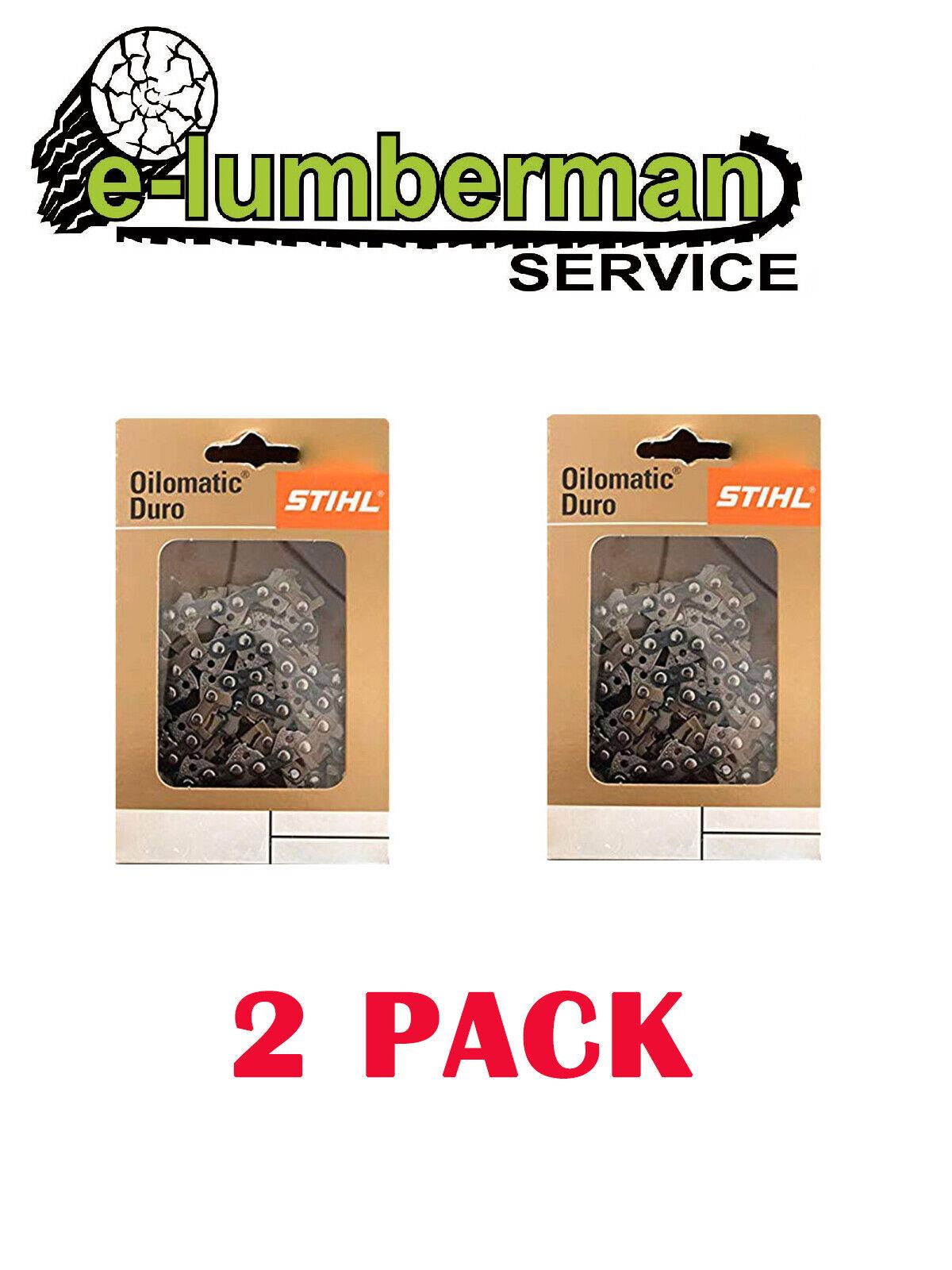 2x Stihl Genuino duro cadena 14  .325 1.6mm (063 ) 56 unidad links 026, MS291