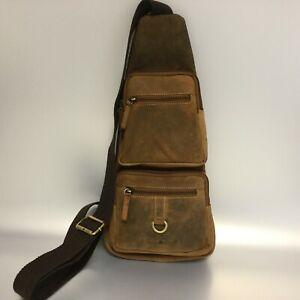 shop best sellers get cheap new arrival Details zu Greenburry Leder Umhängetasche Crossbody Bag Sling Bag  Eingurtrucksack 1613-25