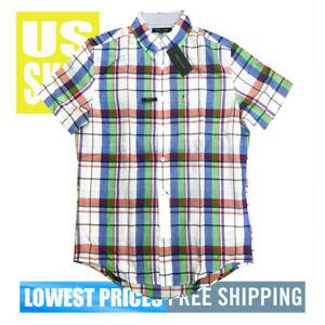 Tommy-Hilfiger-Men-039-s-NWT-Color-Checkered-Cotton-Blend-Button-Down-Shirt-MEDIUM