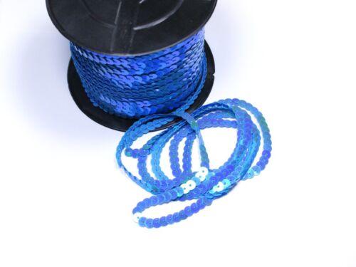 Hochzeit Karneval,Blau irisierend Bauchtanz Deko 5 Meter #S60 Paillettenband