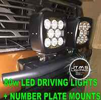 Holden Rodeo Lx Z71 Silver Rego Number Plate Bracket Mounts 80w Driving Lights