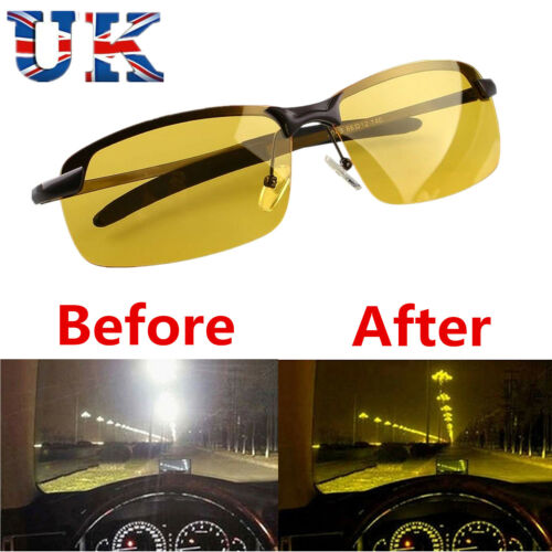 Night Driving Glasses Vision Anti Glare Drivers Polarized UV400 Fit Over