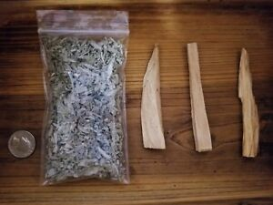 White-Sage-amp-Palo-Santo-Smudging-Kit-3-Palo-Santos-3-10-oz-Bag-of-Loose-Sage