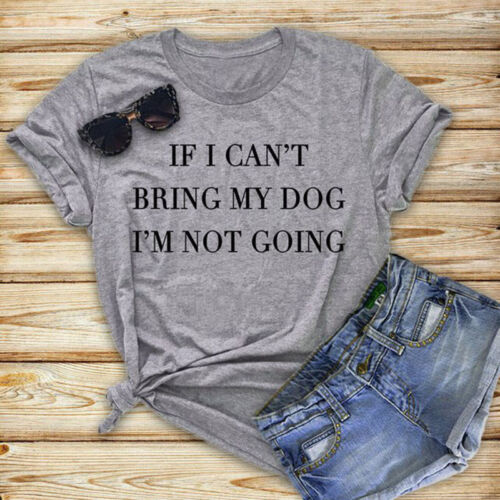 Women Dog Mom T-shirt Funny Tee Pet Party Tops Pet Lover Short Sleeve Casual