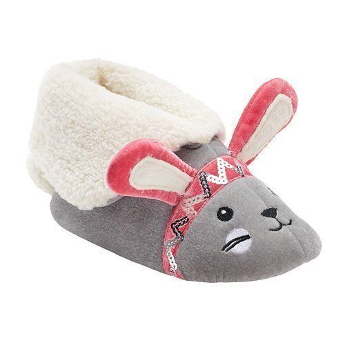 NEW Girl/'s Boy/'s Cuddl Duds Animal Bootie Slippers Fox Bunny Panda 11 13 1 2 3