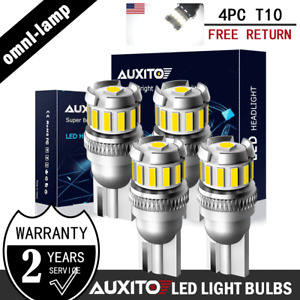AUXITO T10 LED License Plate Light Bulbs 6500K Super Bright White 168 2825 194 A