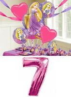 Tangled Rapunzel 7th Birthday Party Balloons Bouquet Supplies Decorations Number